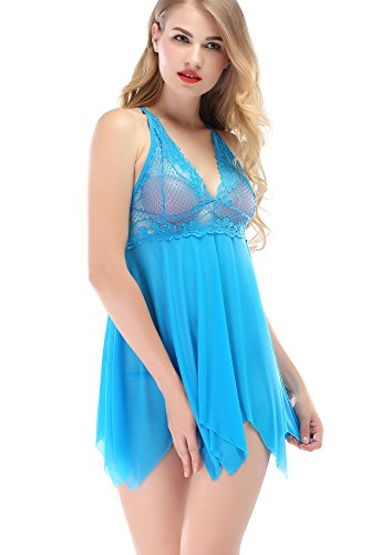 Sexy Lingerie, TINDERALA Sexy Costumes Lace and Mesh Sleepwear Nightwear for Women for Sex (Sexiest Plus Size Outfits)