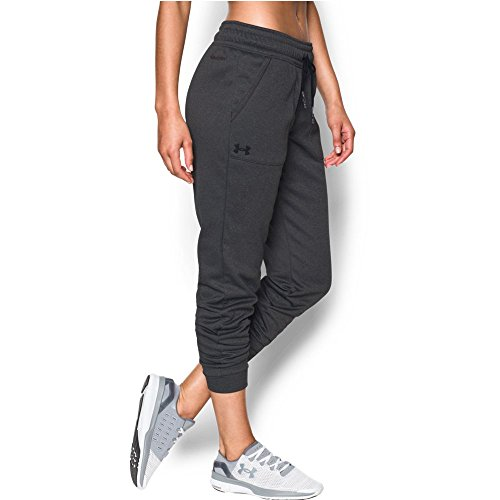 Under Armour Women's Storm Armour Fleece Lightweight Jogger, Carbon Heather/Black, Medium