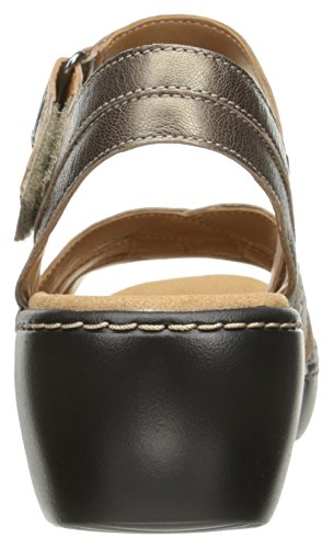 Dress Varro Leather Delana Clarks Pewter Women's Sandal 8ntwx6v