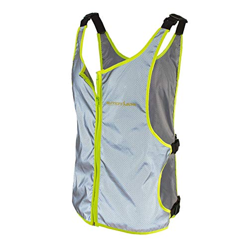 Runner's Goal VizMax 100% Reflective Running Vest by High Visibility Safety Vest with Zipper Pocket for Runners, Dog Walking, Cycling, Motorcycles & Joggers | Adjustable Straps to Fit Men & Women
