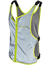 Runner's Goal VizMax - Chaleco de seguridad 100% reflectante con bolsillo con cierre para corredores, pasear al perro, ciclismo, motocicletas y corredores | Correas ajustables para adaptarse a la mayoría de hombres y mujeres