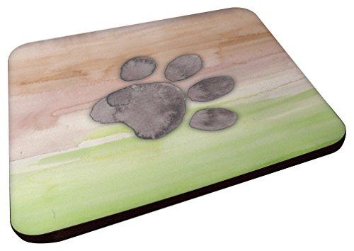 Caroline's Treasures BB7359FC Dog Paw Watercolor Decorative Coasters, 3.5, Multicolor