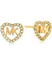 Michael Kors Women Cubic Zirconia Hearts Earrings Rose Gold