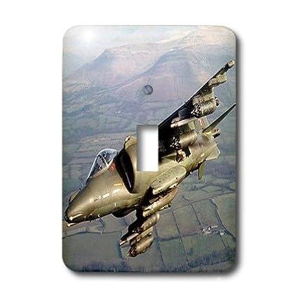 3dRose lsp/_554/_1 Falcon Jet Single Toggle Switch