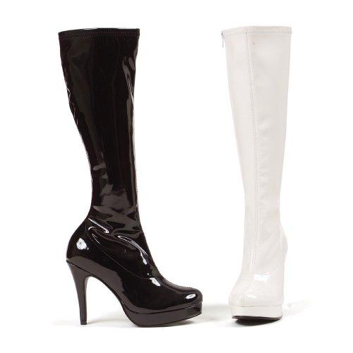 UK Boot Women's EU Plastic in 8 PU Black size 42 Ellie 60Oq5n5