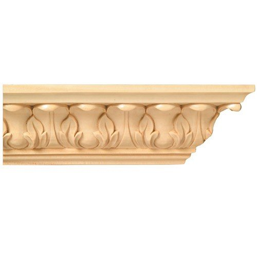 Brown Wood Inc. 01807001HM1 Full Acanthus Crown Carved Wood Molding, Hard MAPLE -