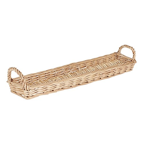 Household Essentials ML-2237 Long Wicker Bread Basket (Inch Reed 1 Basket)