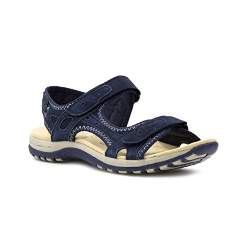 Earth Spirit Womens Navy Leather Sporty Sandal - Size 5 UK / 7 US - Blue