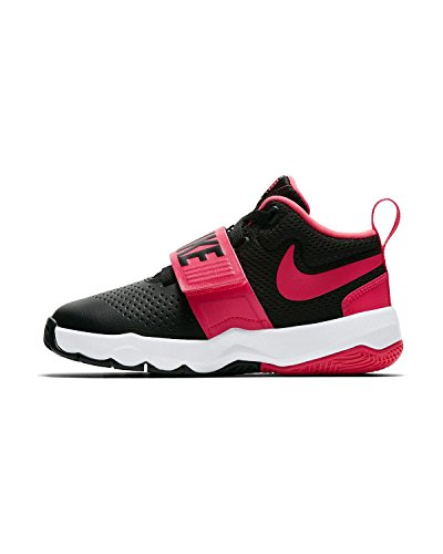 Nike Kids Preschool Team Hustle D 8 Scarpe Da Basket Nero / Racer Rosa / Bianco
