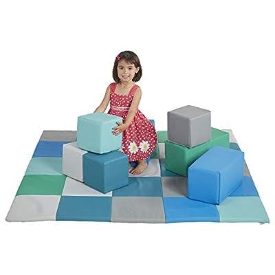 ECR4Kids Softzone Foam Big Building Blocks, Soft Play for Kids, Contemporary (7-Piece Set): Toys & Games
