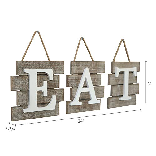 """Barnyard Designs Eat Sign Wall Decor for Kitchen and Home, Distressed Natural, Rustic Farmhouse Country Decorative Wall Art 24'' x 8"""" by Barnyard Designs (Image #6)"""