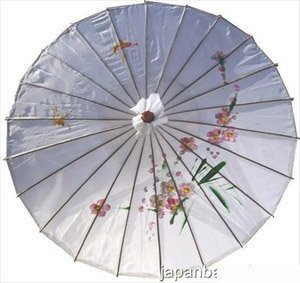 JapanBargain Japanese Chinese Umbrella Parasol, White ()