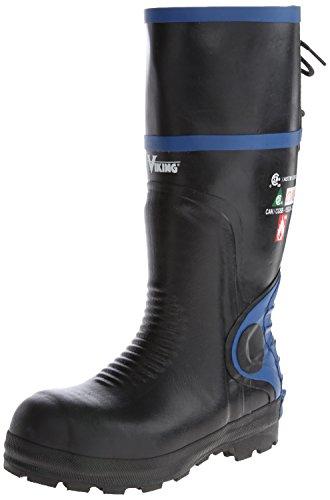 (Viking Footwear Ultimate Firewall FR 16 Inch Boot,Black/Blue,9 M US)