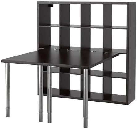 Ikea Kallax – combinación de Escritorio, marrón – 147 x 147 cm ...