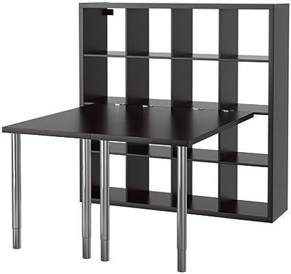 IKEA Kallax - combinación turística, negro-marrón - 147x147 ...