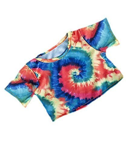 Tie Dye T-Shirt multi-coloured yellow, red, green, blue to fit Bears 8-10 inches (20cm) by Teddy Mountain
