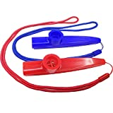 Fartime 6Pcs Plastic Kazoos With Lanyards,Musical