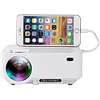 Cooqi mini portable pocket projector home for Mini video projector for iphone
