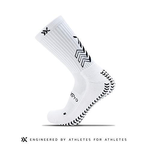 Mens Medium SOXPRO GRIP:IN white grip socks 8.5-12