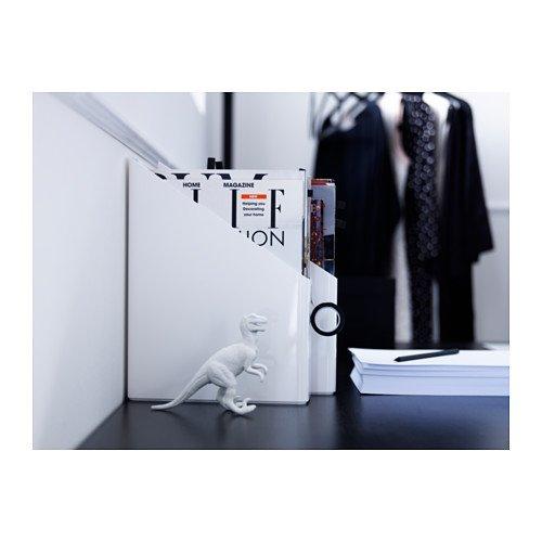 IKEA - PLUGGIS Magazine file, set of 2, white by Ikea