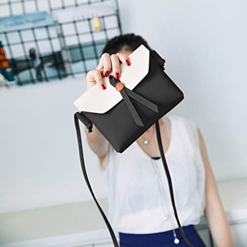 Women Bags Shoulder Leather PU Messenger Mini Domybest Crossbody Black Bag Envelope Bag fwxd4nqgS