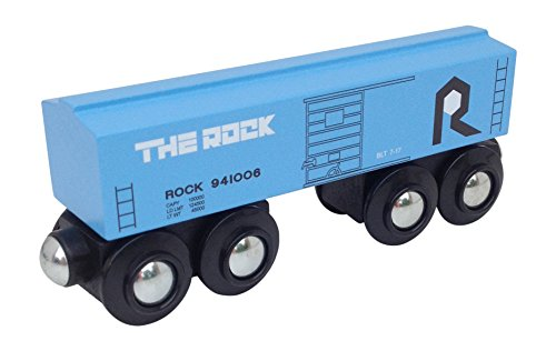 Rock Island Boxcar - Choo Choo Track & Toy Co. Rock Island Baby Blue Boxcar Magnetic Wooden Train