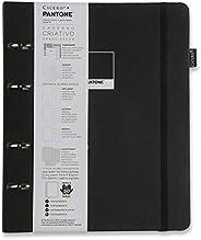 Caderno Criativo Argolado Pantone, Cicero, 3359, Preto, Pautado, 120 fls, Papel Pólen 80g/m², Tamanho Grande (