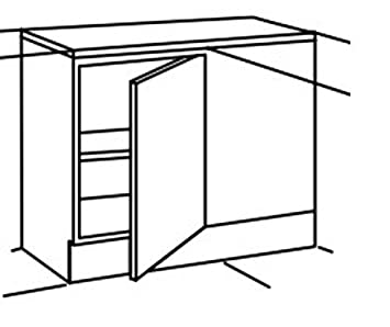 Optifit Küche UEL106-6 Eckunterschrank Unterschrank 110cm Buche ... | {Eck unterschrank küche 81}