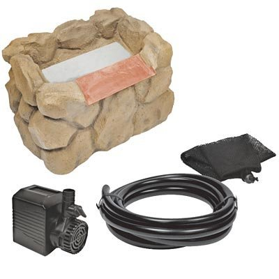Beckett WFK8S Stone Look Waterfall Kit with Pump, 7'' Weir