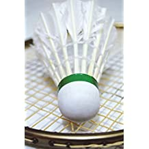 Shuttlecock and Badminton Racquet Journal: 150 page lined notebook/diary