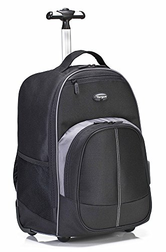 Targus Compact Rolling Backpack for 16-Inch Laptops, Black ()