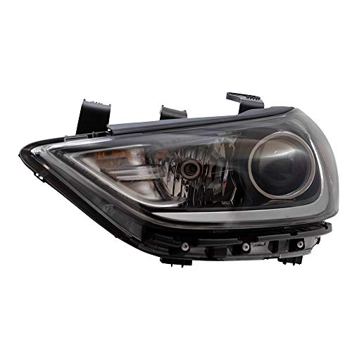 BROCK Headlight Assembly Replacement for 2017-2018 Hyundai Elantra Sedan Driver Halogen Headlamp 92101F3000 92101-F3000 ()