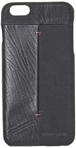 Capa para iPhone 6 Plus iPhone 6s Plus Couro Legítimo Original [Couro] [Capa iPhone] [iPhone 6 Plus] [iPhone 6s Plus] [Capinha Protetora] [Preto], Pierre Cardin, PC68-01, Preto