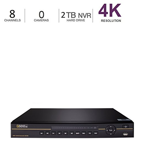 (Q-See 4K 8MP 8-Channel NVR Ultra HD QC IP Series Surveillance with H.265 and Expandable 2TB HDD (QCK81-2))