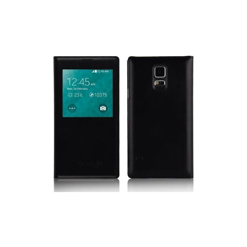 Galaxy S5 Case - Black Leather Smart Vie