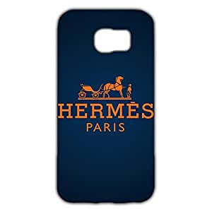Simple Pattern Hermes Logo Design 3D Hard Plastic Case Cover Snap on Samsung Galaxy S6