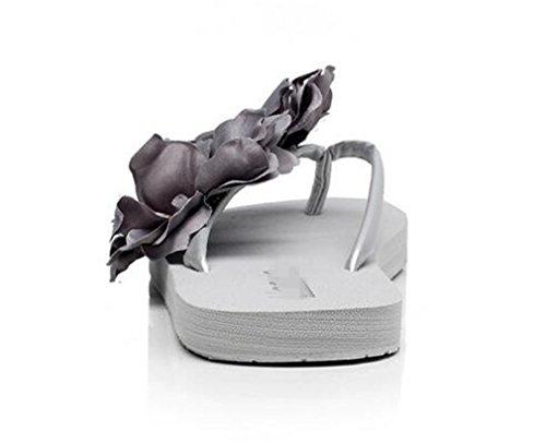 Summens Damen Zehentrenner Flip-Flops Dusch- & Badeschuhe Pantoletten Hausschuhe Schuhabsatz 1.8, 3.5, 5 ,6.8 CM (36 EU, Schuhabsatz:1.8 CM)