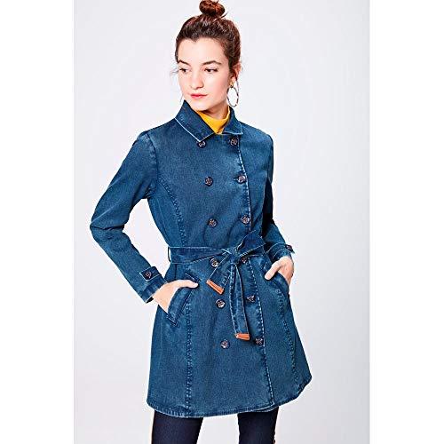 Trench Coat Jeans Feminino Tam: P/cor: Blue
