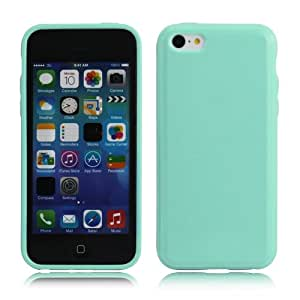 Harryshell TPU Soft Colorful Protective Case Cover for Iphone 5c Free for Screen Protector and Mini Stylus (Light Green)