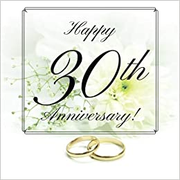Happy 30th Anniversary Guest Book Free Layout Message Book For