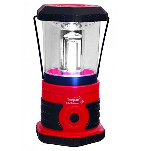 Texsport 600 Lumen LED Camp Lantern, Black/Red