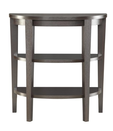 Convenience Concepts Modern Newport 3-Shelf Console, Rich Espresso