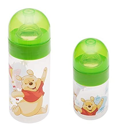 2er Set: Disney winnie pooh verde Bebé Botella De Cuello Ancho 125ml ...