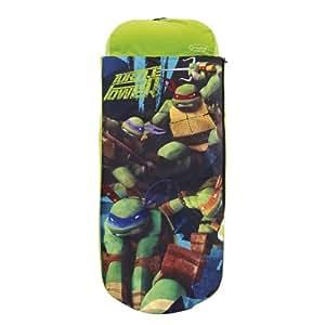 Worlds Apart - Colchón hinchable para niños (150 x 62 x 20 cm, de 3 a 6 años, incluye almohada y sábana), diseño de las Tortugas Ninja