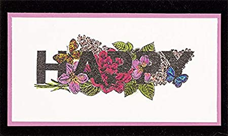 "A 6/""x8/"" Sheet with 20 Stamps Easy Watercolor Florals Clear Silicone Stamp Set by Hot Off The Press"