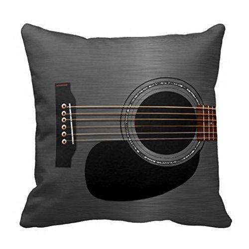 Ash Black Acoustic Guitar Pillow Case