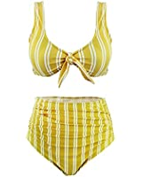 a14d91dec23ae SS Queen Women High Waisted Padded Swimsuits Printing Bowknot Swimwear Two  Pieces Bathing Suit