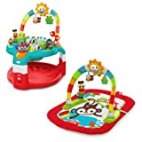 Bright Starts, 2-in-1 Silly Sunburst Activity Gym & Saucer