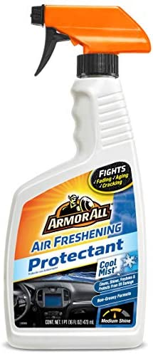 Armor All Air Freshening Protectant Spray, Car Interior Cleaner with UV Protection to Fight Cracking & Fading, Medium Shine, Cool Mist, 16 Fl Oz, 78511