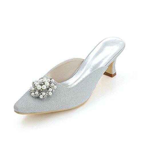 L@YC Women'S High Heels Spring / Summer / autumn / Silk Wedding / Party Evening & Cool Slippers White